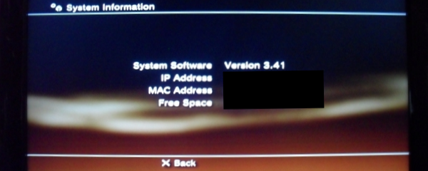System Information FW 3.41