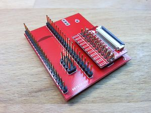 Teensy adapter Board for NANDway - solder adapterboard on pinheader