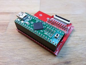 Teensy adapter Board for NANDway - solder teensy on female pinheader