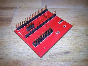 Teensy adapter Board for NANDway - solder pinheaders on adapterboard