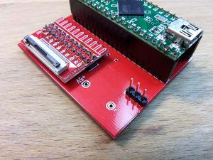 Teensy adapter Board for NANDway - 1x3 Pinheader Powersource