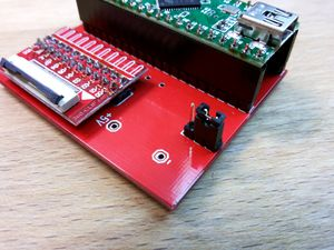 Teensy adapter Board for NANDway - 1x3 Pinheader Powersource by USB